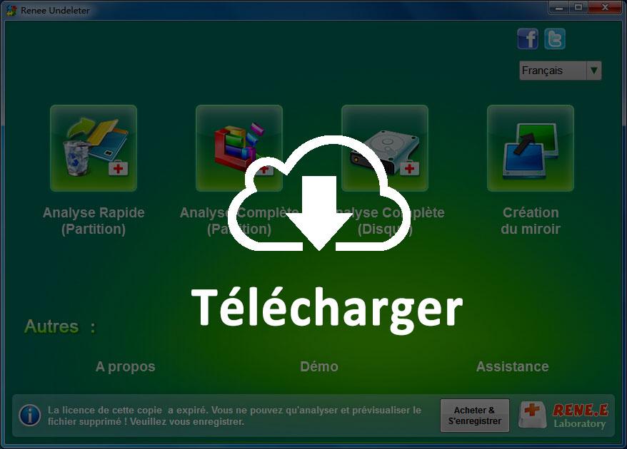 Téléchargez le logiciel de récupération de données gratuit, Renee Undeleter