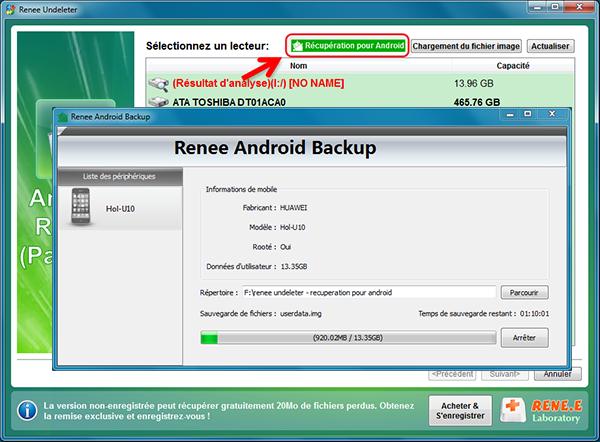Renee Undeleter-Récupérer les données du mobile Android