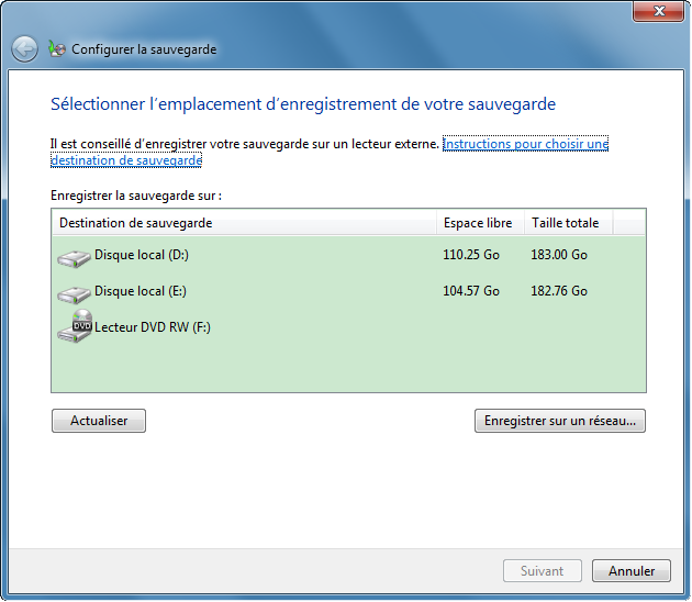 Sauvegarder Windows 7 avec les fonctions de Windows - Renee Becca