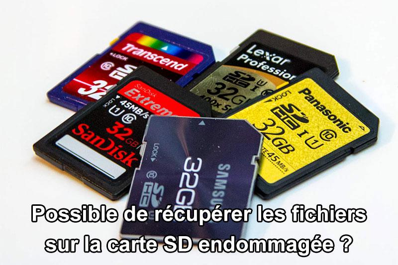 récupérer les fichiers depuis la carte SD endommagée