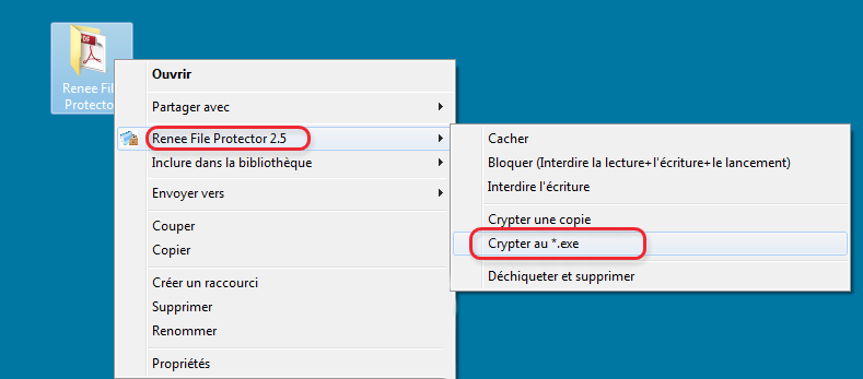 Crypter un dossier avec Renee File Protector