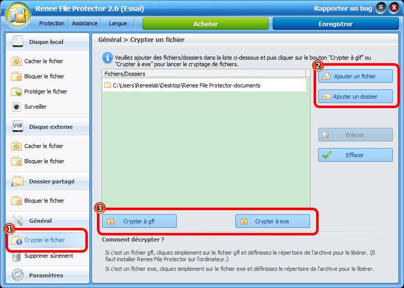 Crypter un dossier avec le logiciel de cryptage de dossier-Renee File Protector