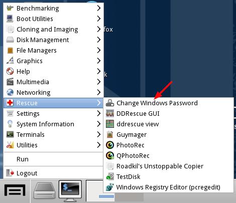 Réinitialiser le mot de passe Windows avec Chntpw-1