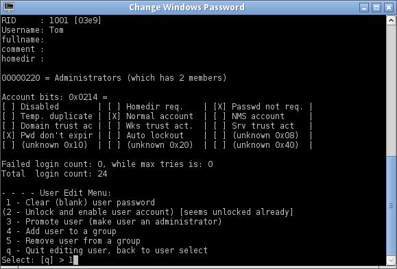 Réinitialiser le mot de passe Windows avec Chntpw-6