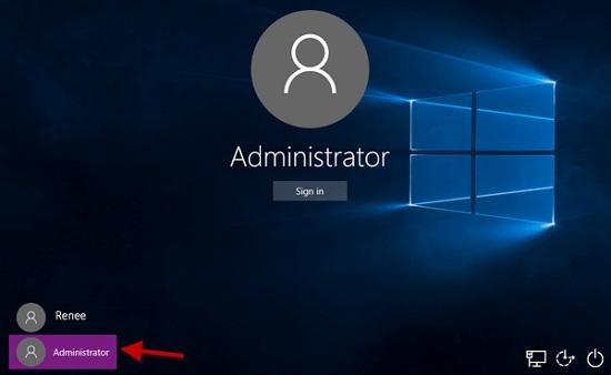 Changer le mot de passe du compte d'utilisateur avec le compte administrateur