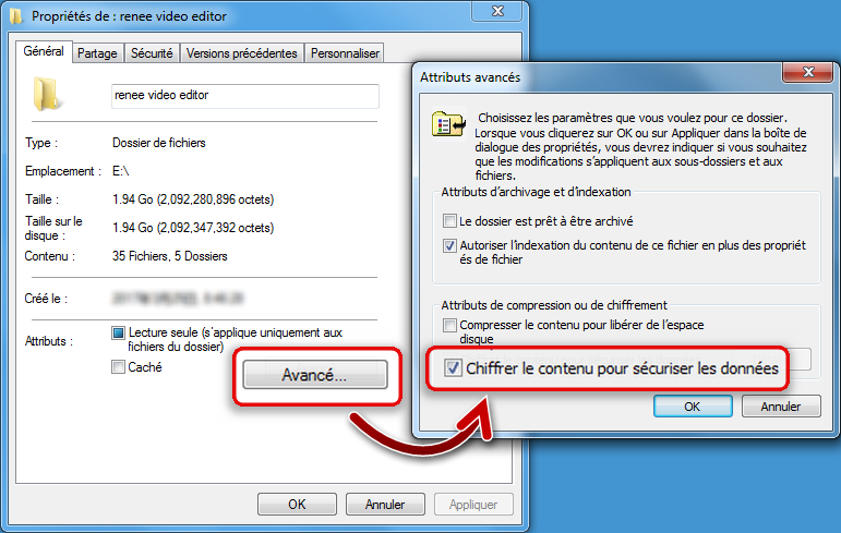 chiffrer un dossier sous windows-renee file protector