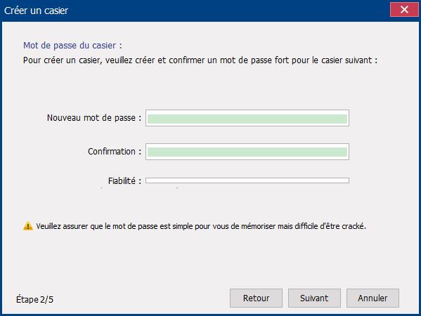 créer un mot de passe du disque virtuel