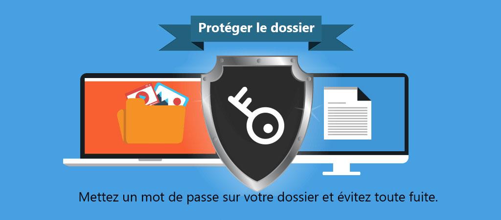 Protéger le dossier avec un mot de passe