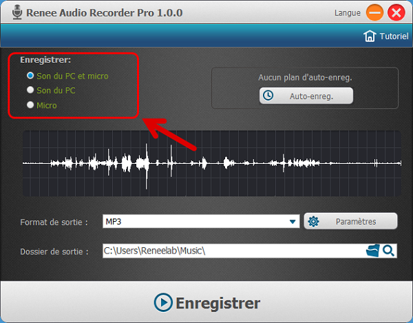 Logiciel d'enregistrement audio - Renee Audio Recorder Pro