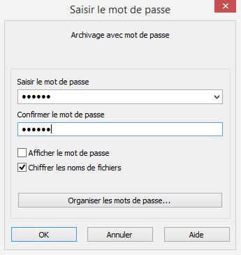 Impossible de modifier un mot de passe, mais il y a des logiciels (payants pour la plupart) qui peuvent récupérer le MDP d'une archive.