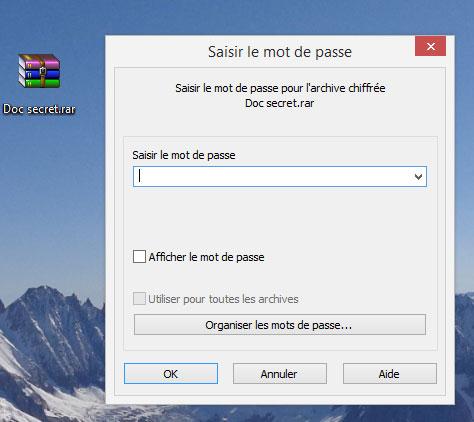 Crack mot de passe winrar sans logiciel