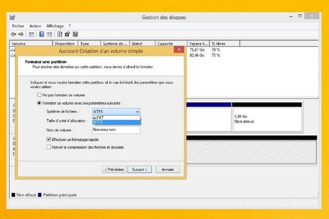 creer un volume - disque dur mac