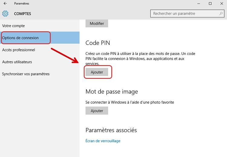 Créer un code confidentiel sous Windows 10 - Renee PassNow