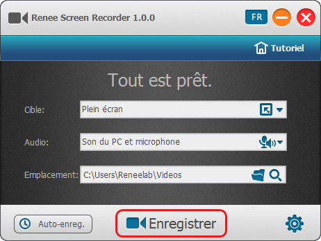 Lancer la capture d'écran -Renee Screen Recorder