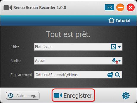 Lancer l'enregistrement d'une vidéo - Renee Screen Recorder