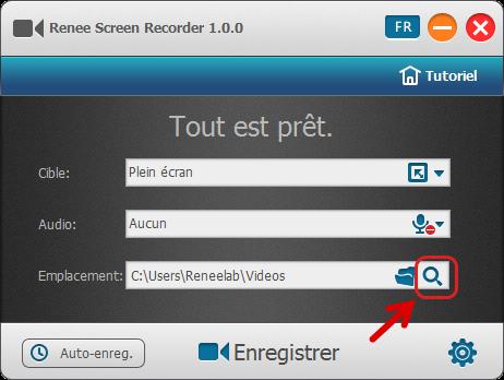 Ouvrir la vidéo enregistrée - Renee Screen Recorder