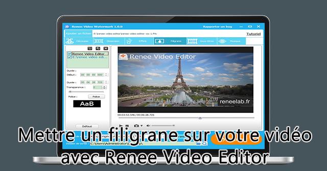 Mettre un filigrane sur la vidéo - Renee Video Editor