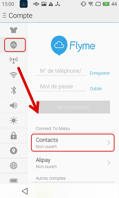 Récupérer les contacts depuis le Cloud -- Renee Android Recovery