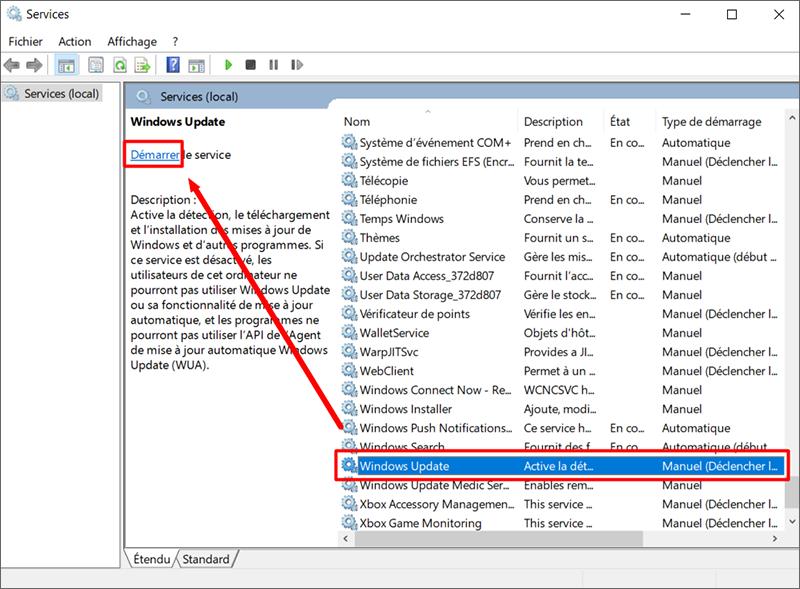 Activer la mise à jour automatiquement de Windows