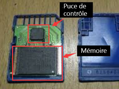 Structure interne de la carte SD