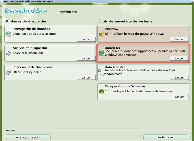 Récupérer les fichiers lors du crash de Windows
