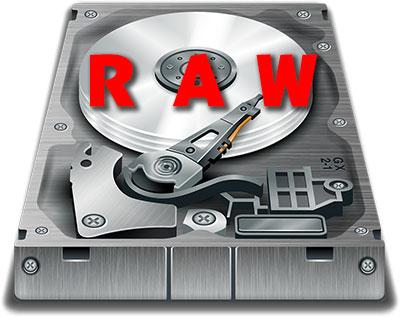 vérifier le fichier système sur un disque dur en RAW