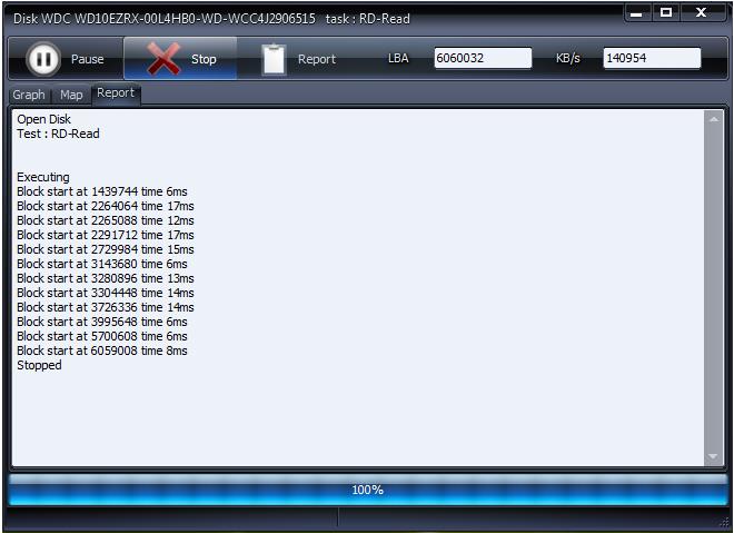 Résultat de HDD Scan