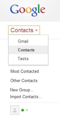 Accéder aux contacts dans le compte Gmail