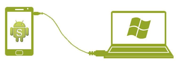 Connecter le mobile Android sur le PC avec un câble USB