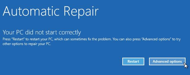 réparer le démarrage automatique