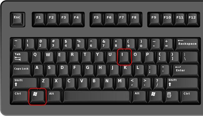 touches Windows et I du clavier