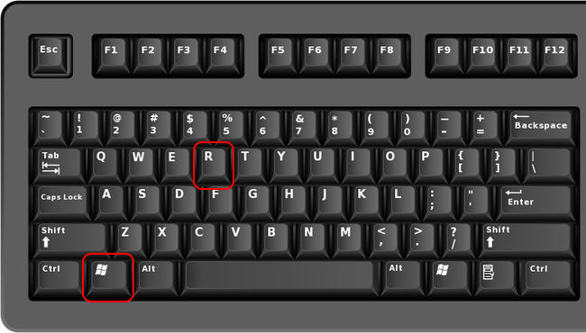 touches Windows et R du clavier