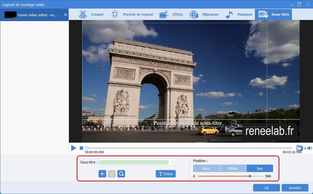 Ajouter des sous-titre avec Renee Video Editor Pro