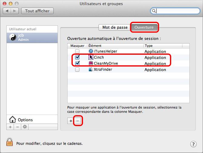 masquer les applications au démarrage de l'ordinateur mac
