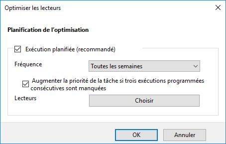 Planification d'optimisation