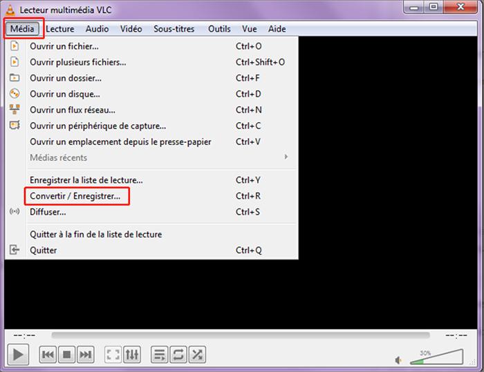 convertir fichier mkv avec VLC
