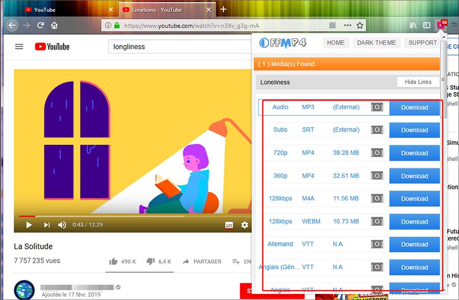 Utiliser Offmp4 Download pour télécharger les vidéos