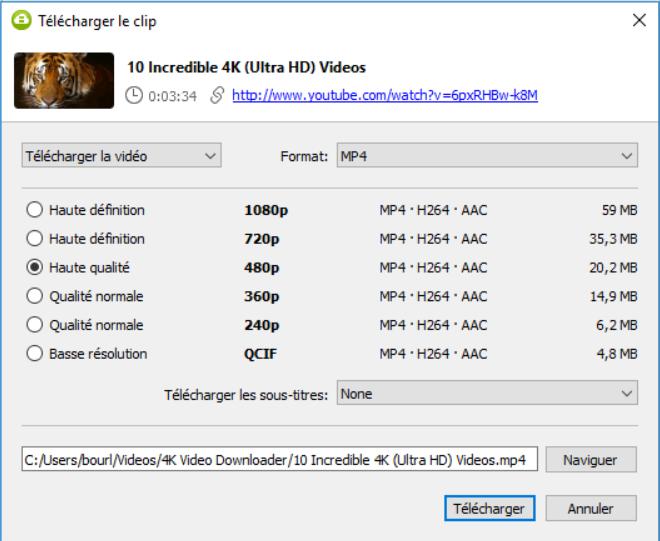 télécharger vidéo avec 4k downloader