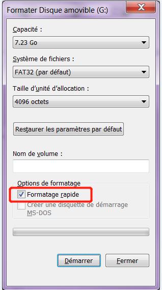 formater la carte sd rapidement et récupérer les données de la carte SD formatée