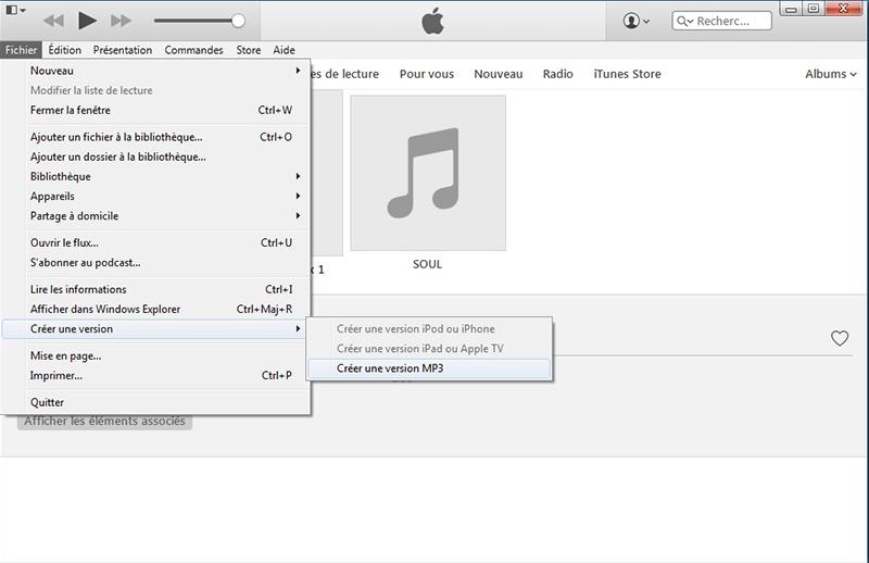 créer un version MP3