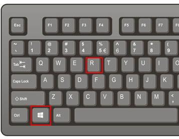 appuyer sur Windows et R