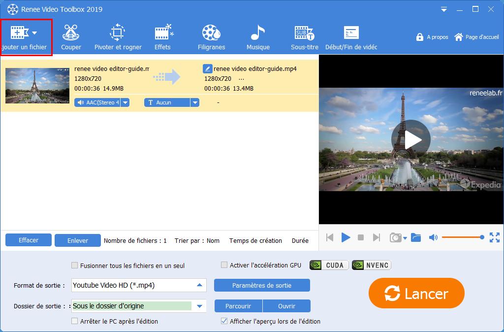 ajouter une vidéo dans Renee Video Editor Pro