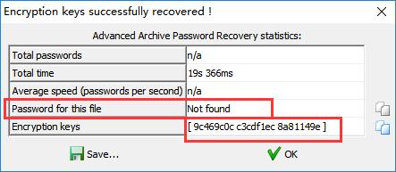 cracker le mot de passe du fichier ZIP dans ARCHPR