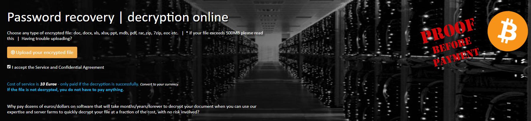 cracker le mot de passe du fichier ZIP sur le site password-online