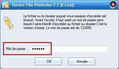 taper le mot de passe pour ouvrir le fichier bloqué