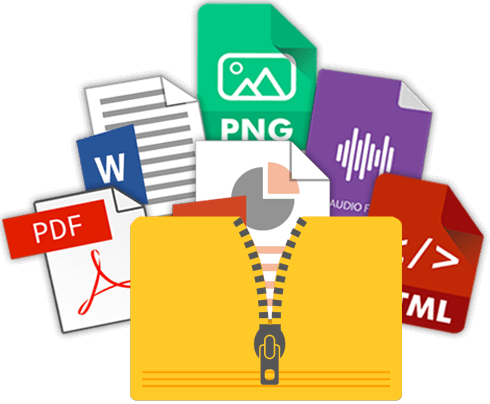 mettre plusieurs types de fichiers dans un fichier ZIP