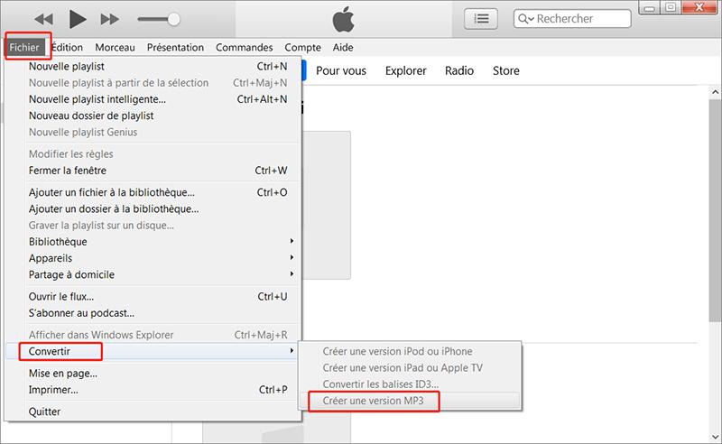 convertir MPEG4 en MP3 via iTunes