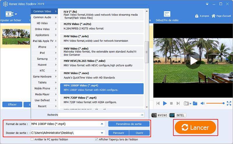 enregistrer la vidéo avec le changement de débit d'image