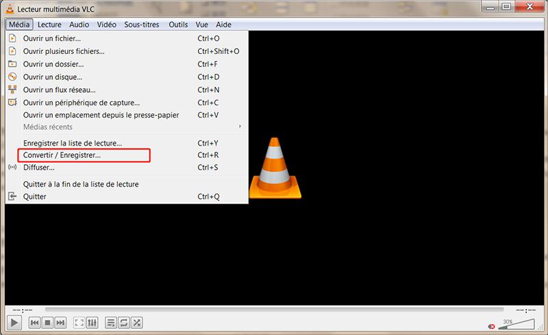convertir mov en wmv avec VLC