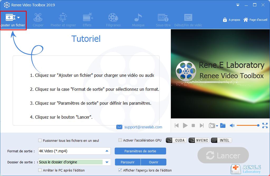 ajouter le fichier MP3 dans Renee Video Editor Pro